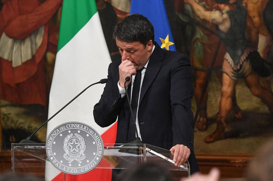 Italian pääministeri Matteo Renzi ilmoitti erostaan yhden aikoihin yöllä Suomen aikaa.