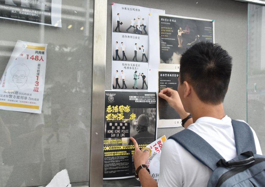 John Ng on osallistunut lukuisiin mielenosoituksiin Hongkongissa. Hän ei halua näyttää kasvojaan.