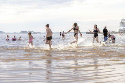 Nallikarin uimavesi  jälleen puhdasta – Oulun seudun ympäristötoimi: Uimaveden bakteerit ovat vähentyneet eikä sinilevää ole havaittu