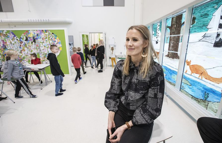 Pohjois-Ritaharjun koulun tiimivalmentajan, luokanopettaja Minna Kestin mielestä olennaista on, että tila-asioissa saadaan nopeita ratkaisuja.