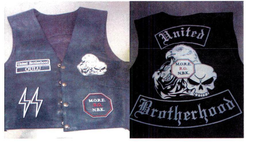 United Brotherhoodiin kytkeytyvässä esitutkinnassa kuvattiin vuonna 2013 UB:n täysjäsenen nahkaliivit.