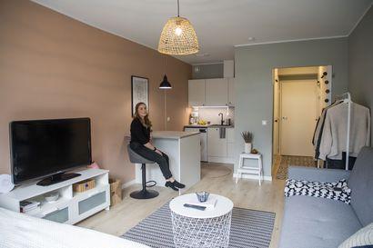 Opiskelijan rakas, ensimmäinen oma koti Oulun Alppilassa remontoitiin pieneksi tilaihmeeksi