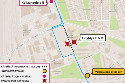 Baanatyömaa katkaisee  Lintulammentien liikenteeltä Oulussa – muutoksia joukkoliikenteeseen