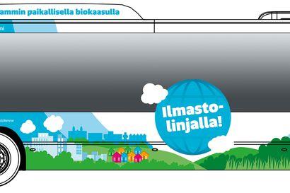 Oulussa huristelee kohta neljä biokaasulla toimivaa bussia