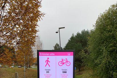 Oulu saa Suomen ensimmäisen pyöräilijöiden ja kävelijöiden infojärjestelmän – Näyttöruudut kertovat liikkujien määristä, talvikunnossapidon tilanteesta tai opastavat tapahtumien aikana