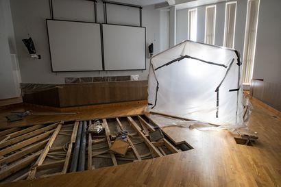 Fregatti-salin remontti alkaa - vesivahingosta pian kaksi vuotta