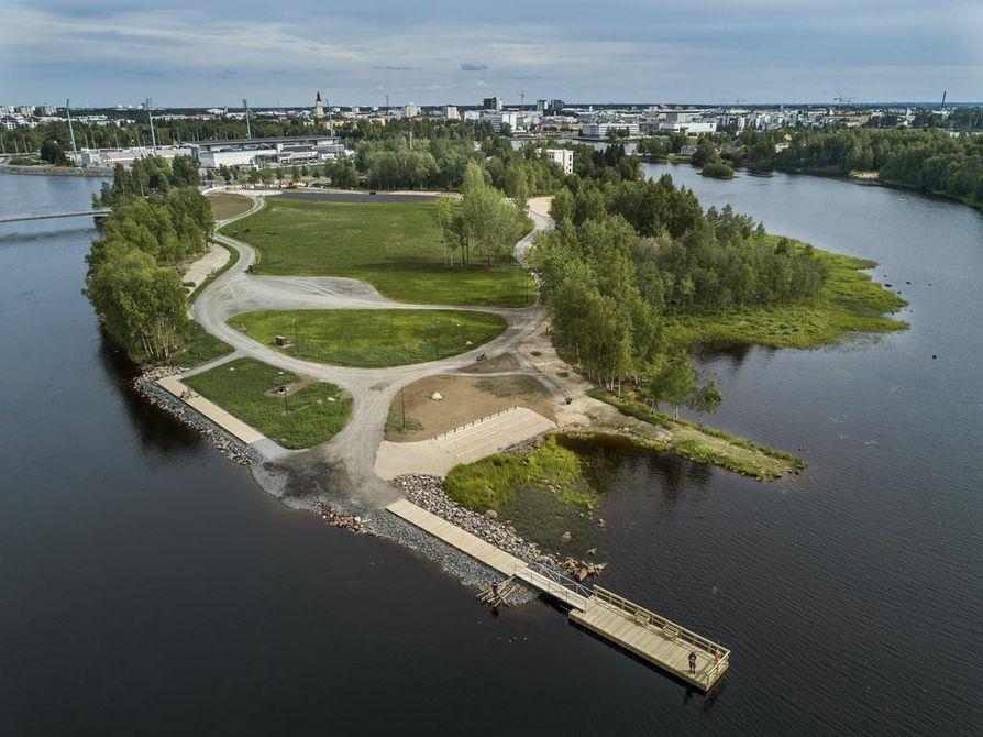 Kuusisaari kunnostettiin kesällä 2017.