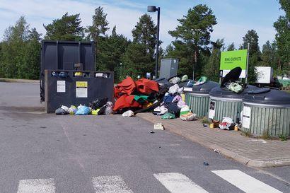 Kauppojen ekopisteet pursusivat Oulussa – juhannus täytti säiliöt, jätekasseja viskattiin surutta ympäristöön