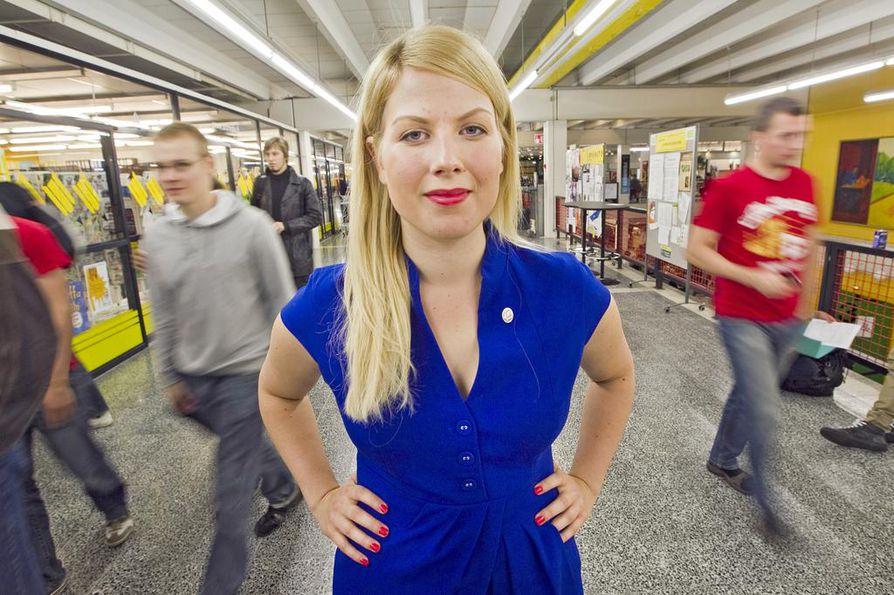 Jenni Pitko toimi Oulun yliopiston ylioppilaskunnan hallituksen puheenjohtajana vuonna 2011.