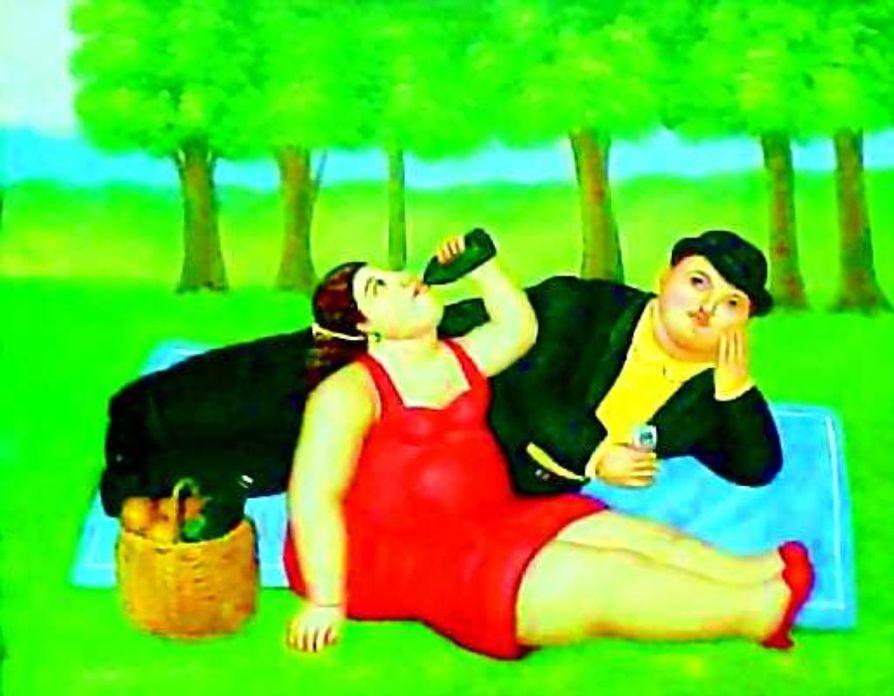 Iloa arkeen. Kolumbialainen taiteilija Fernando Botero on aina ylistänyt nauntintoja.
