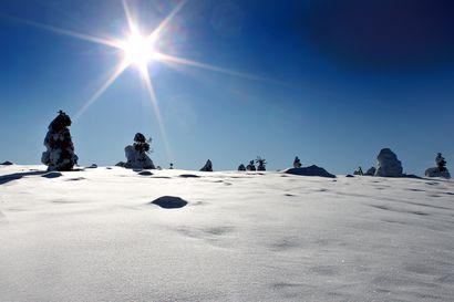 Lankalauantai on Lapissa aurinkoinen, sunnuntaina tulee lunta taivaan täydeltä