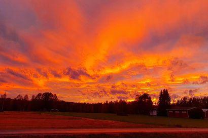 Kalevan lukijat kuvasivat upeaa auringonlaskua – Yhdysvaltain metsäpalojen savu värjää Perämeren iltataivasta