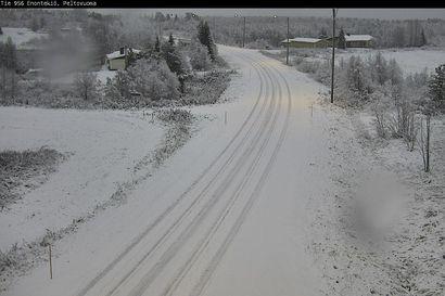 Lappiin ja Koillismaalle on satanut syksyn ensilumi – Enontekiöllä lunta jo yhdeksän senttiä