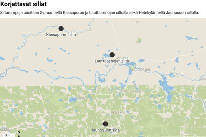 Tietyöt jatkuvat Pudasjärvellä vilkkaasti tulevana kesänä – Pohjois-Pohjanmaan ely-keskus uusii siltoja Siuruantiellä ja Hetekyläntiellä