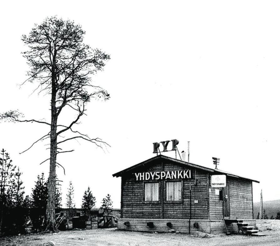 Yhdyspankki perusti työmaakonttorin Ylä-Tuulomalle.