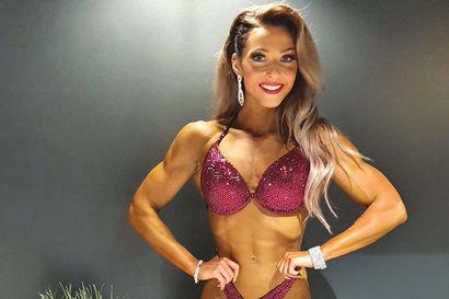 Jenny Karjalainen ensimmäisissä body fitness -kisoissaan – Heti tuli voitto