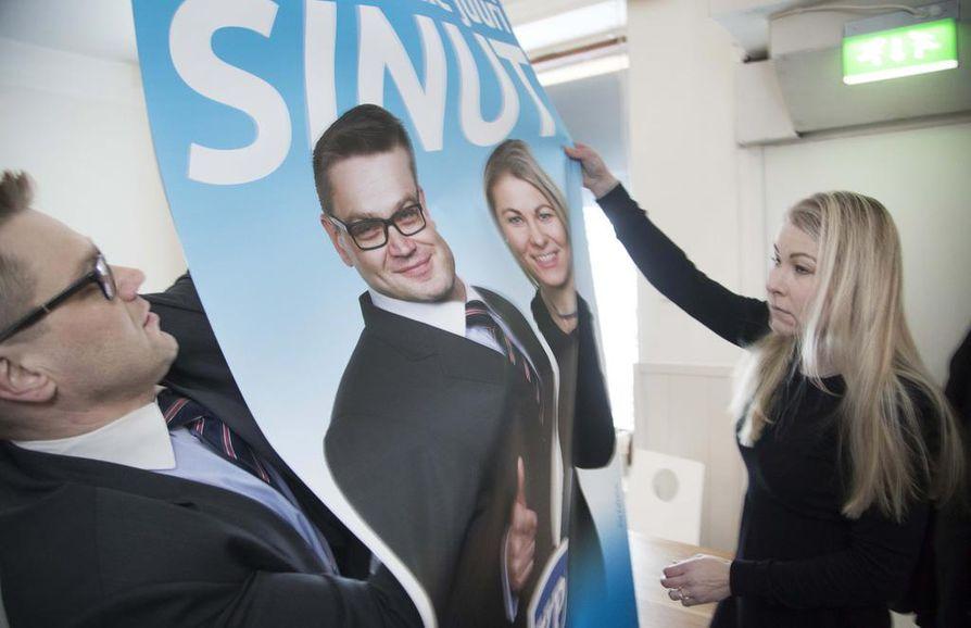 Kansalaispuolueen puheenjohtaja Sami Kilpeläinen ja varapuheenjohtaja Piia Kattelus valmistavat puoluettaan eduskuntavaaleihin.