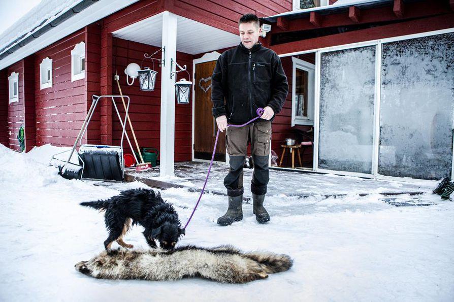 Janne Orava on yksi harvoista, joka on saanut suoritettua vaativan riistamestarin erikoisammattitutkinnon loppuun asti. Saksanmetsästysterrieri  Raisa on Oravan mukaan monipuolinen metsästyskoira, toimii esimerkiksi luolakoirana ja noutaa myös.