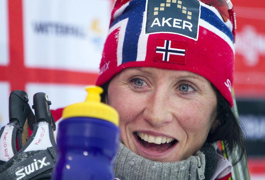 Marit Björgen oli ylittämätön naisten 30 kilometrin matkalla Lahdessa lauantaina. Arkistokuva.