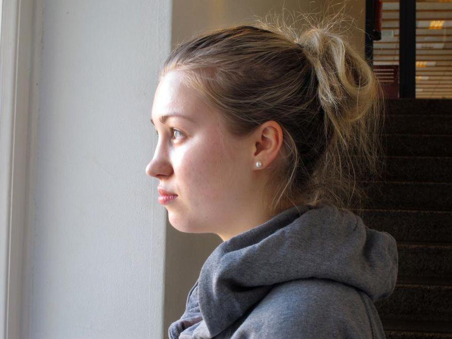 Abiturientti Viola Wotschke aikoo välivuoden jälkeen hakea opiskelemaan sosiaali- ja terveysalaa.