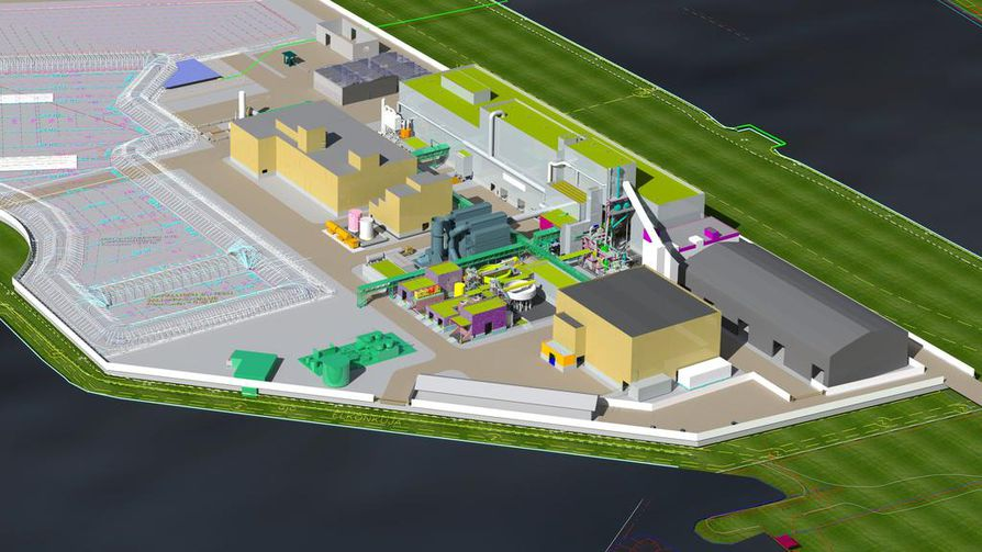 Ferrovan Oy aloittaa vanadiinin  tuotannon Raahen satama-alueelle rakennettavassa metallituotetehtaassa. Kuvassa 3D-mallinnos tulevasta tehtaasta, tuotanto käynnistyy loppuvuodesta 2020.