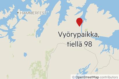 Norjassa taas iso maanvyöry ja pitkä kiertotie: Parisataa metriä maantietä tuhoutui Utsjoen naapurikunnassa Tenojokisuulla  – Katso kuva