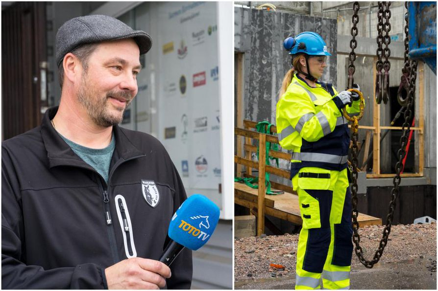 Elementtiasentaja Jaakko Salminen ja hänen vaimonsa TotoTV-juontaja ja toimittaja Marinka astuvat rohkeasti toistensa saappaisiin suomalaisen reality-sarjan avausjaksossa.