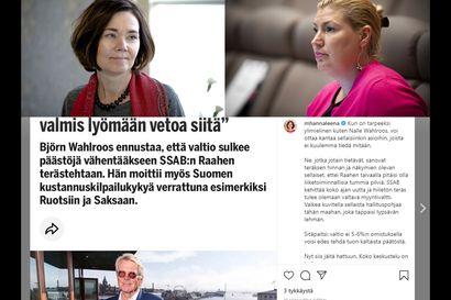 Julkisuuden hakua ja höpöhöpöväitteitä: Björn Wahlroosin veikkaus Raahen terästehtaan tulevaisuudesta sai tyrmäyksen
