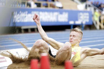 Kristian Pulli paukaisi pituushypyn Suomen ennätyksen! - kolme hyppyä yli 8 metrin
