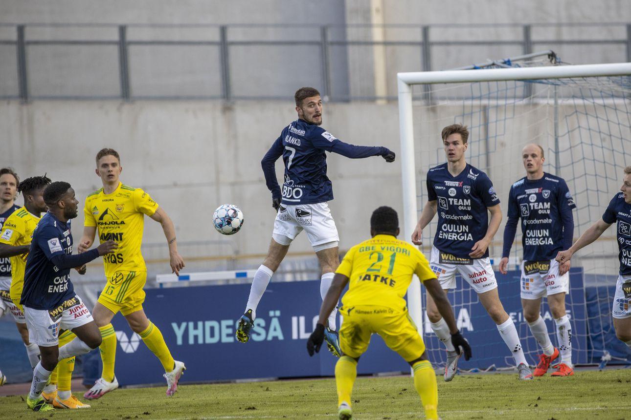 AC Oulu jalkapallokausi 2021