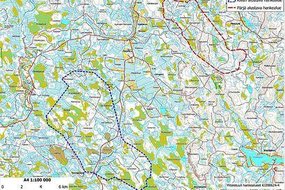 Tuulivoimapuistoa kaavaillaan pääosin Pärjän ja Kivarin yhteismetsien alueille – katso kartta