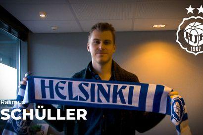 Rasmus Schüller HJK:n mies seuraavat kaksi kautta