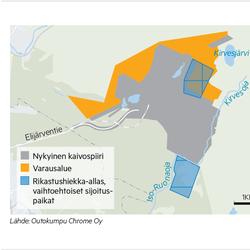 Outokumpu varautuu Kemin kaivoksen laajentamiseen – edellinen laajennus näkyy ikivanhana suolavetenä Ruonaojassa
