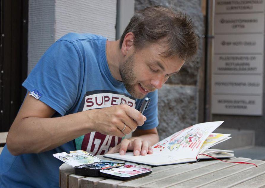 Sarjakuvataiteilija Ville Ranta julkaisee uuden sarjakuvan. (kuvaajan suosikki)