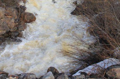 Inarin Jäniskosken riippusillalle käyttökielto voimakkaan tulvan takia