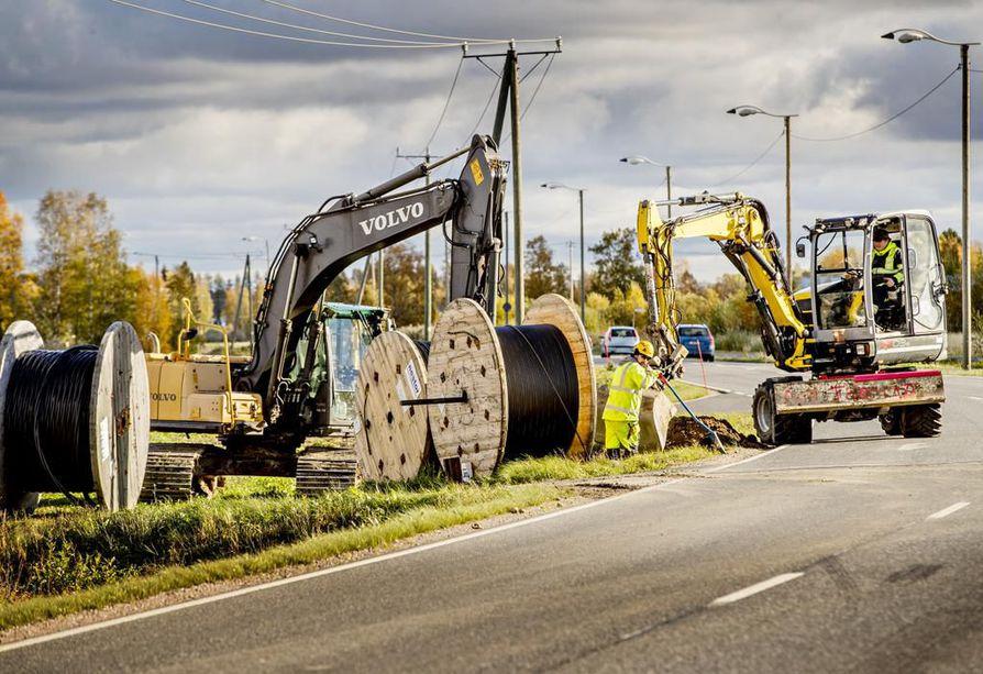 Konkurssiin hakeutunut Relacom on urakoinut valokuituverkkoja Limingassa ja Raahessa.