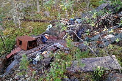 Uuden Rovaniemen lukijoiden löytöjä metsästä: Romukuorma rinteessä ja mystinen kantopeikko
