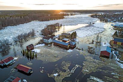 Sään lämpeneminen lisää tulvariskiä pääsiäisviikolla – Pohjois-Pohjanmaan joissa tulvahuippua saadaan vielä odottaa