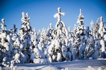 Lappilaisten hiihtoloma alkaa aurinkoisessa säässä – Lumisateita luvassa vasta perjantaina
