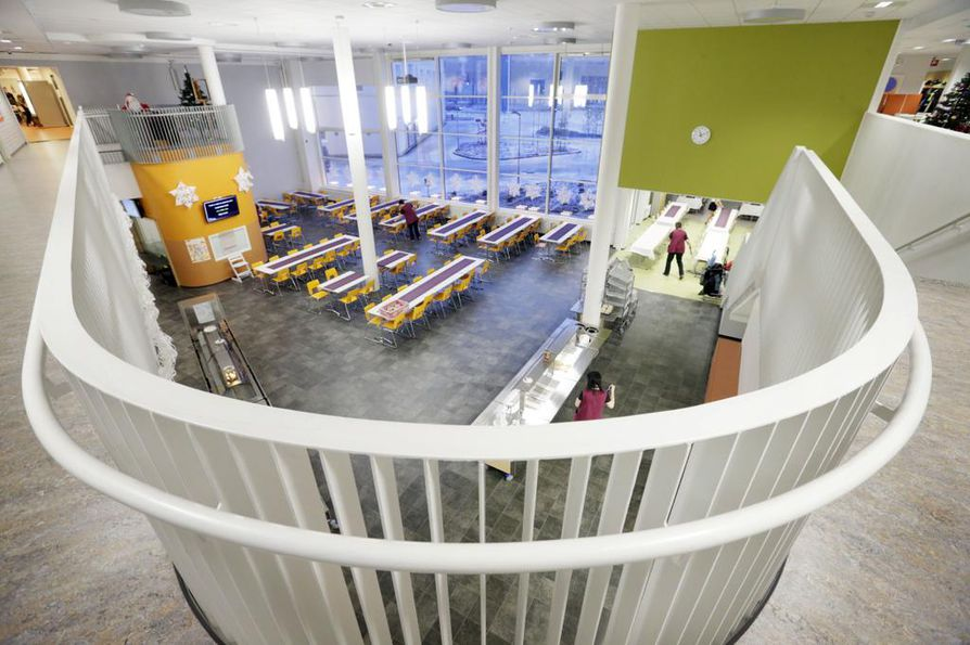 Uudella koululla on tyytyväisiä käyttäjiä.