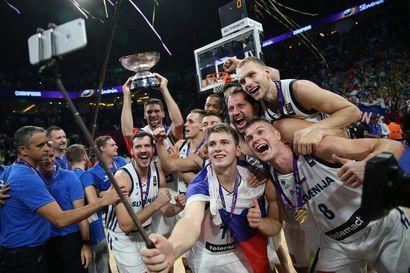 Slovenia vei voiton koripallon EM-kisoissa
