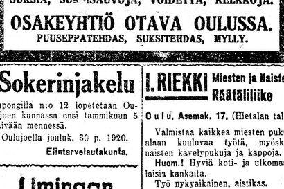 Vanha Kaleva: Pelkosenniemen tukkityömaalla ammuttiin karhu, Oulun Seurahuoneen uusi parkettilattia vahattu tansseja varten