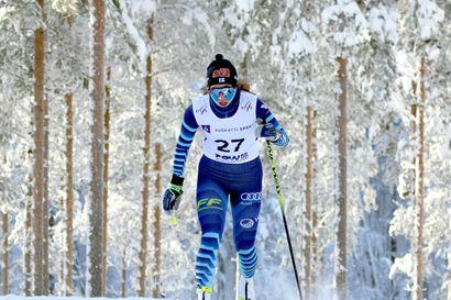 Emmi Lämsä 13:s nuorten MM-hiihtojen vapaan kisassa