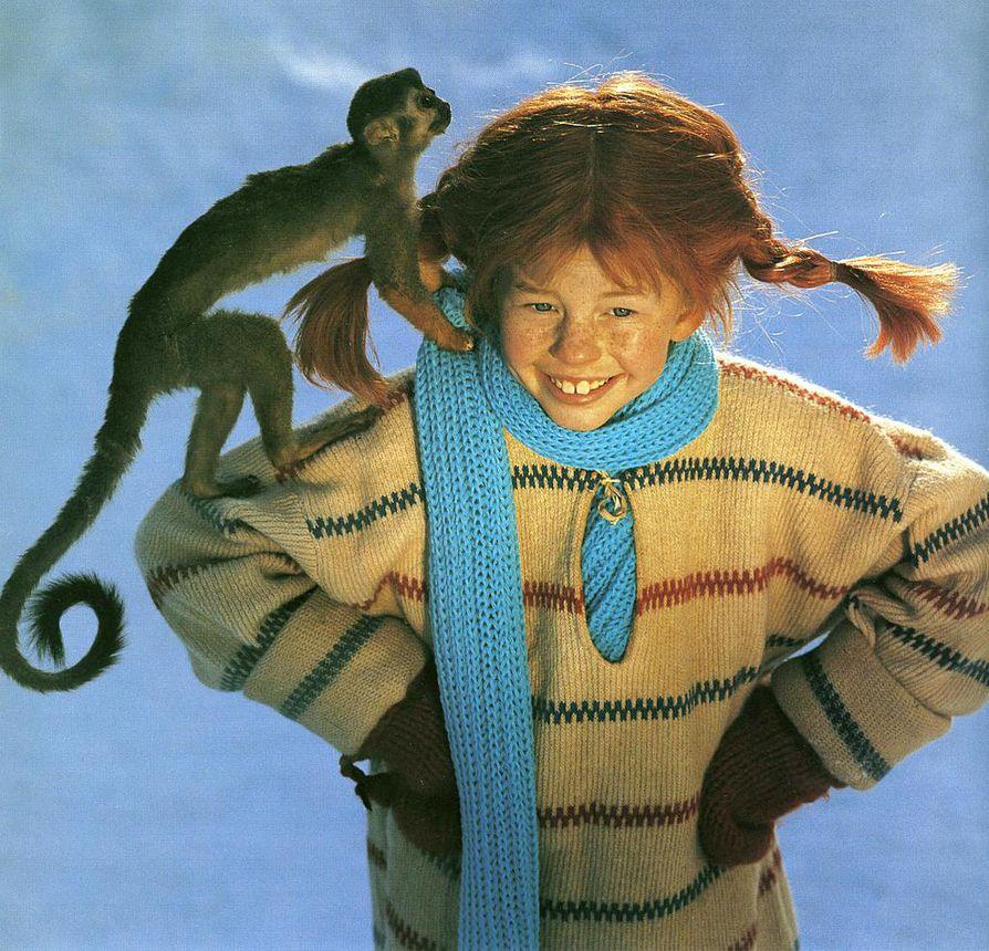 Pepin rooliin haki Ruotsissa 8¿000 tyttöä. 8-vuotias Inger Nilsson oli lopulta selvä valinta. Apina ei ollut niin kesy kuin toivottiin.