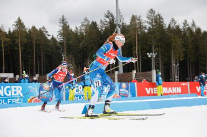 Suvi Minkkinen ja Tero Seppälä parisekaviestin 13. Nove Mestossa