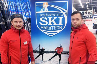 Suksilla Jätkänkynttilän yli Lordin aukiolle – Jätkänkynttilä Ski Marathon tuo hiihtäjät maaliskuussa keskelle Rovaniemeä
