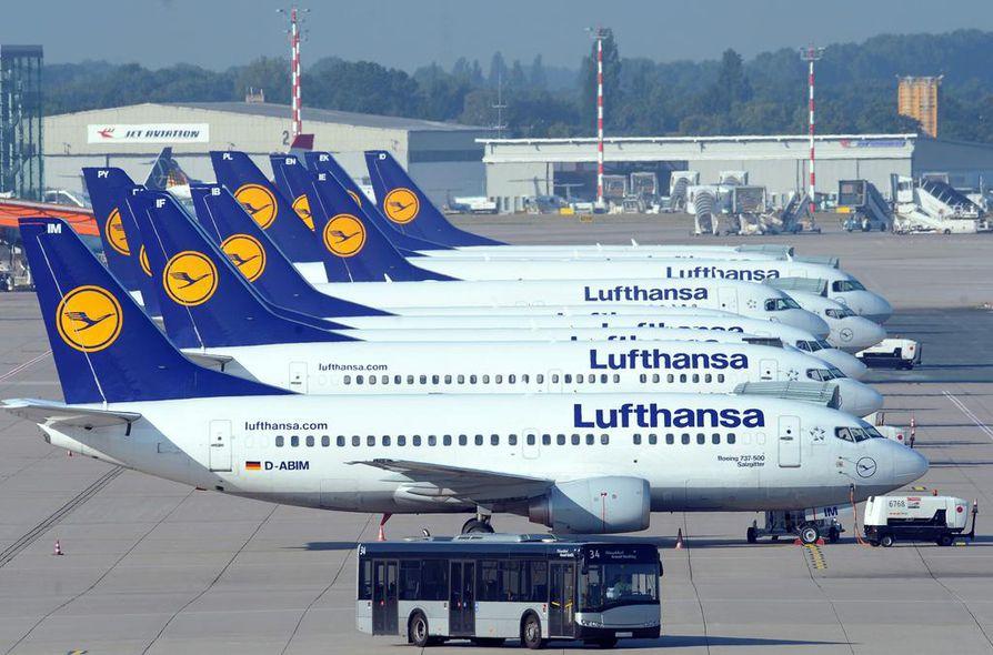 Lufthansa vaihtelee konekokoa Frankfurt-Kuusamo-lennoilla.