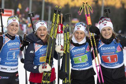 Suomen kvartetti 19:nneksi Ruhpoldingissa - Norja otti voiton