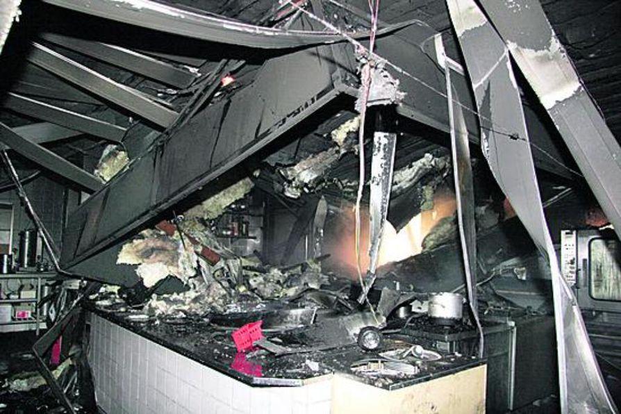 Hotelli Pallaksen keittiö tuhoitui täysin rajussa tulipalossa eilen torstaina.