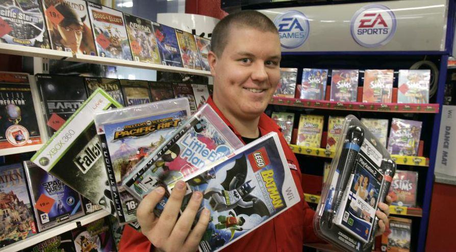 Pelimiehen Atte Karppisen mukaan käytetyt pelien markkina on tärkeä osa pelaamiskokemusta. Arkistokuva.